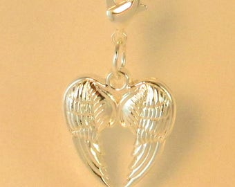 "Miscarriage /Loss of a Child/Stillbirth ""Trusting Angel"" Laminated Pocket Card with Keepsake Silver Plated Angel Wings Charm~Baby Memorial"