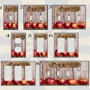 Metal Light Switch Plate Cover   Country Kitchen Apples Home Decor Apple  Decor Red Apple Decor