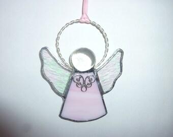 Stained glass an angel suncatcher
