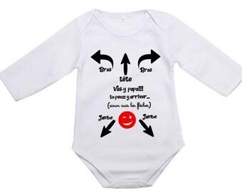 personalized Bodysuit, job dad, put body, humor, funny phrase, Daddy baby Bodysuit