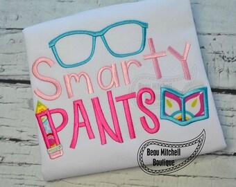 Smarty Pants applique embroidrey design