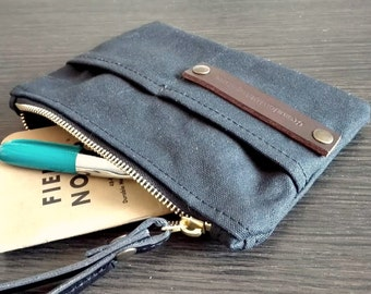 Waxed canvas pouch, purses and bags canvas coin purse, waxed canvas purse, travel wallet accessories passport cover, fabric wallet