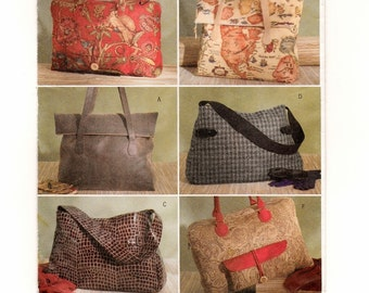 A Sewing Pattern to Create Large Lined Tote Bags: Uncut ~ Butterick 4318