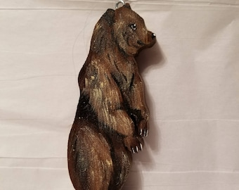 wooden bear ornament