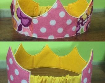 Polka Dots & Flowers crown