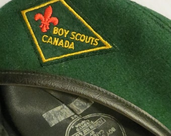 Boy Scouts Of Canada Official Youth Beret Cap Hat Green Medium