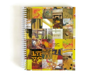 Yellow Notebook - Paper, Draft, Blank Sketchbook, Spiral Bound Writing Journal, Diary, Back to School, Gift All Occasions, One of a Kind