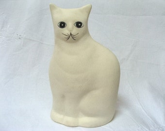 Vintage Cat Bank Porcelain Bisque