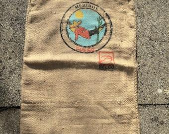 Vintage HAWIT burlap coffee bag