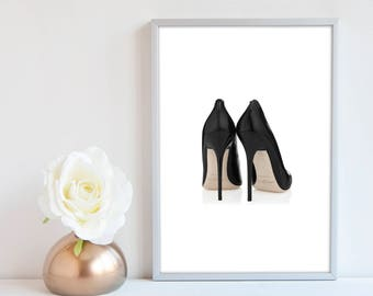 Jimmy Choo Shoe Print, Shoes fashion illustration, Fashion Wall art, Fashion Print, Fashion Sketch