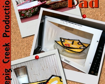 PDF - Hot Bowl Hot Pad - Microwave Safe Bowl Pad Sewing Pattern