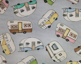 Tossed Trailers - RV Fabric - Roam Sweet Home - Cotton Fabric - Maywood Studio - CAMP-03