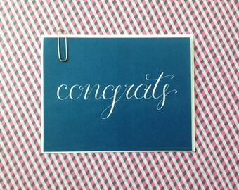Congratulations Card, Calligraphy