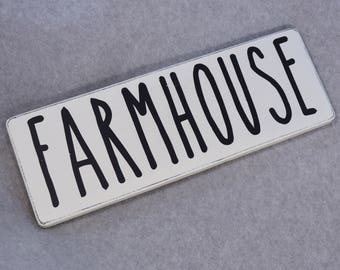 Rustic Farmhouse Wood Sign, Country Kitchen Home Decor, Rae Dunn Farmhouse Chic Style