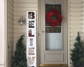 Porch Sign - double sided sign - front porch decor - Large Welcome Sign - Porch Decor - Believe Sign - 6 ft porch sign - gift for Mom - Home