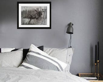 Country Moose Print