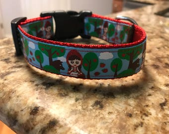 "1"" Red Riding Hood Collar"