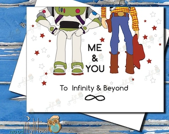 To Infinity & Beyond, Cute anniversary card, Love  card, Toy Story Card, Card for boyfriend, Card for Husband, Valentine's day card,