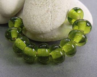 Meadow Ice, Lampwork Spacer Beads, SRA, UK