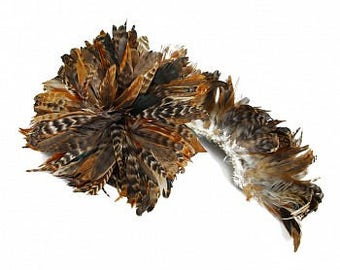 Natural Red Chinchilla Schlappen Feathers - Strung 1/2 Yard CXCSR6-8-.50YD--N