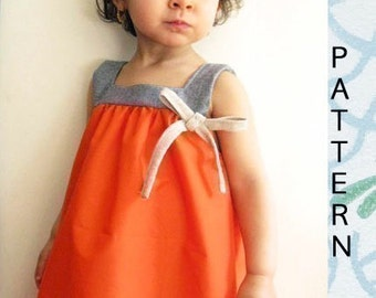 The MANGO dress-INSTANT download- 12m to 6T- Easy sewing-