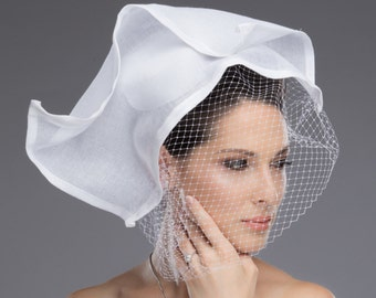 "Beautifully Handcrafted Headpiece ""Blanca"""