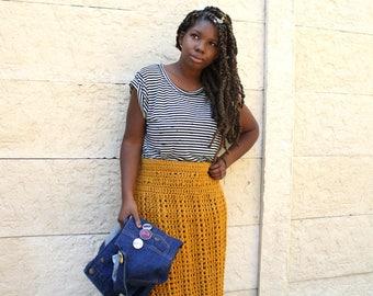 Through The Corn Maze Crochet Skirt. Instant Download!