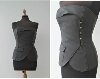 Vintage Steampunk Clothing Bustier Top Corset Bustier Corset Vintage Goth Clothing Steampunk Vest Pirate Costume Victorian Corset