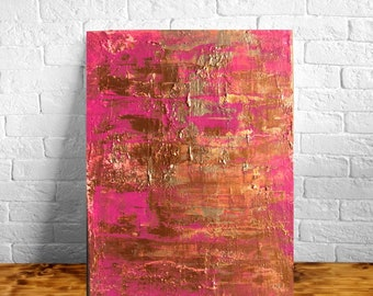 9x12 Abstract Painting on Canvas