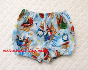 Baby Bloomers Diaper Cover Panties Photo Shoot Cake Smash Thomas the Train Bloomer Diaper Cover Infant Toddler Birthday Photoprop Photoshoot