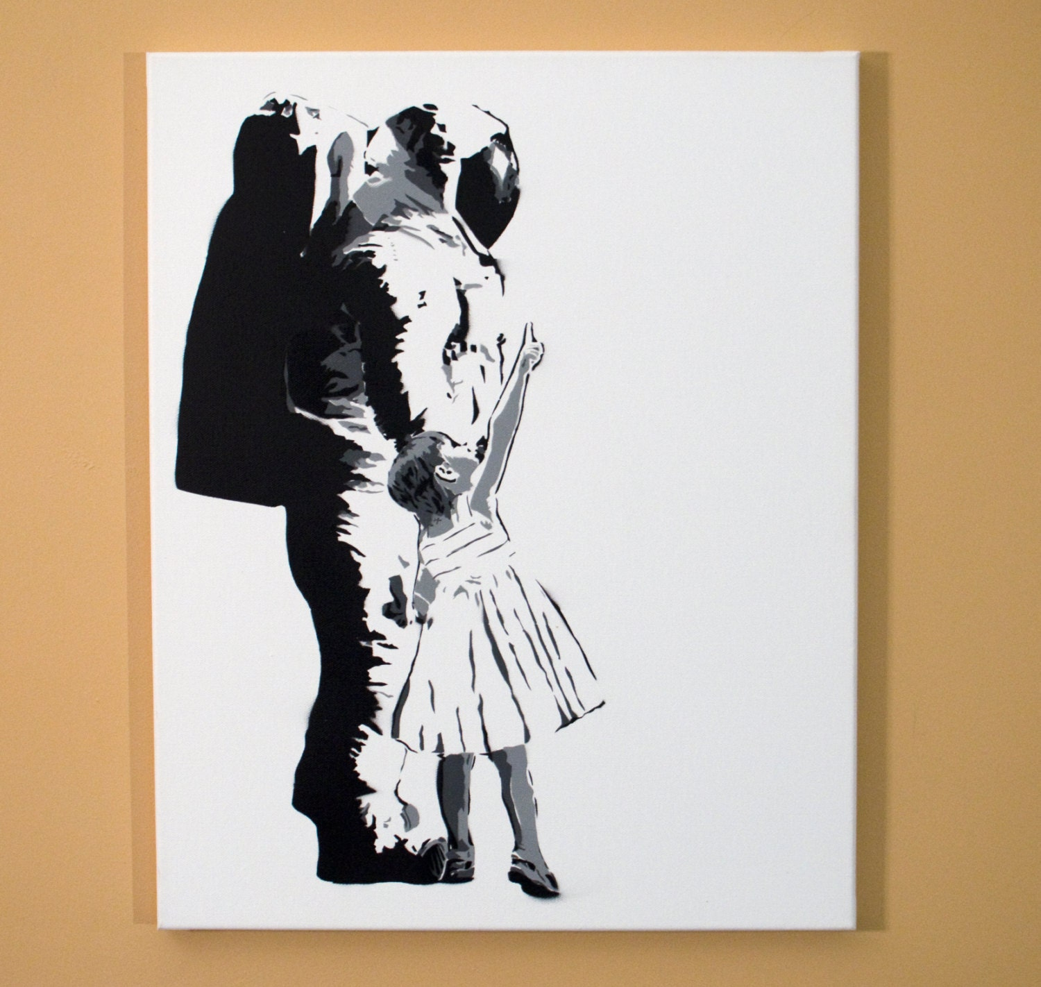 Astronaut and girl look up stencil art black and zoom jeuxipadfo Image collections