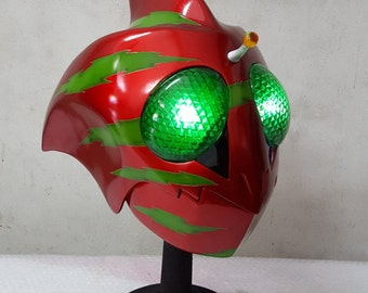 Kamen Rider / Masked Rider Amazon Alpha LED Eyes Helmet Prop Replica 1:1 Full Scale Head Cosplay Costume Accessories Handmade Quality.