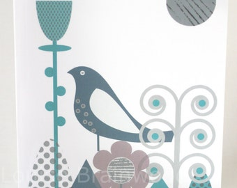 Bird Garden Greetings Note Card