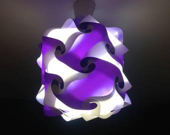 Light purple and white lamp Lantern puzzle