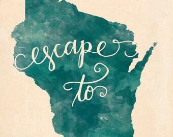 Wisconsin Escape print