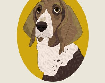 Custom Portrait Pet portrait Pet art Pet drawing Custom dog portrait Dog Memorial dog portrait Custom pet illustration