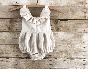 Baby clothes romper Boho baby girl clothes first birthday outfit overalls little girl photo shoot outfit girl boho onesie bubble romper