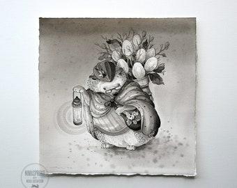 Hedgehog - Original Painting