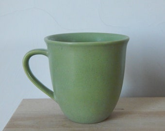 Scandinavian Vintage Höganäs Keramik Stoneware Green Matte Mug Pottery by Stengods Sweden Scandinavian Design