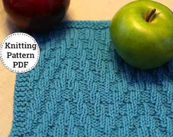 KNITTING PATTERN-Mountain Crest, Dishcloth Pattern