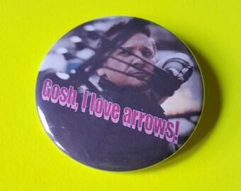 Hawkeye Loves Arrows Button