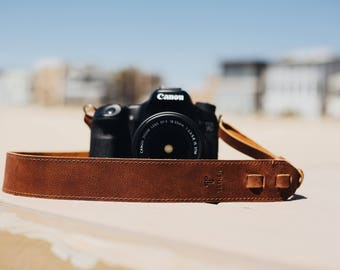 True Brown Leather Camera Strap for DSLR or SLR camera, DSLR Camera Strap. Camera accessories. Canon camera strap. Nikon c