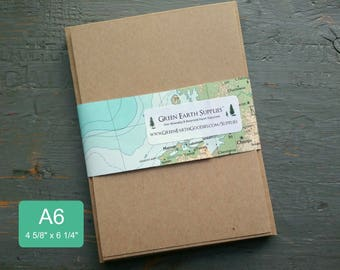 """100 A6 Kraft or Light Brown FLAT Cards & Envelopes, 100% Recycled Blank Invitations/Post Cards with Envelopes, 4 5/8 x 6 1/4"""", 65lb-105lb"""