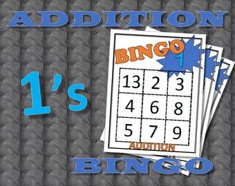 Math Facts Bingo: Addition 1's