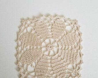 Handmade crocheted doily-crocheted doily