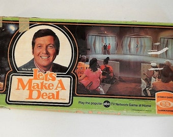 RARE Vintage Let's Make a Deal Board Game - Ideal Toy Corp., #2096-6 -1974 -tv show game, Monty Hall, ABC-TV, fun family night game, classic