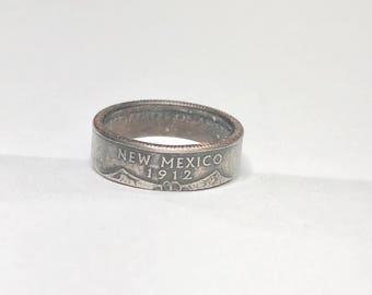 New Mexico - Coin Ring - Coin Jewelry - Quarter Ring - Gift - State Wedding Ring - Husband - Wife - State Quarter Ring - Anniversary Gift