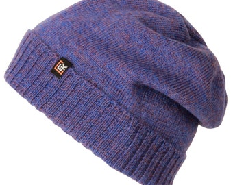 100% Wool Classic Beanie Hat (Periwinkle)