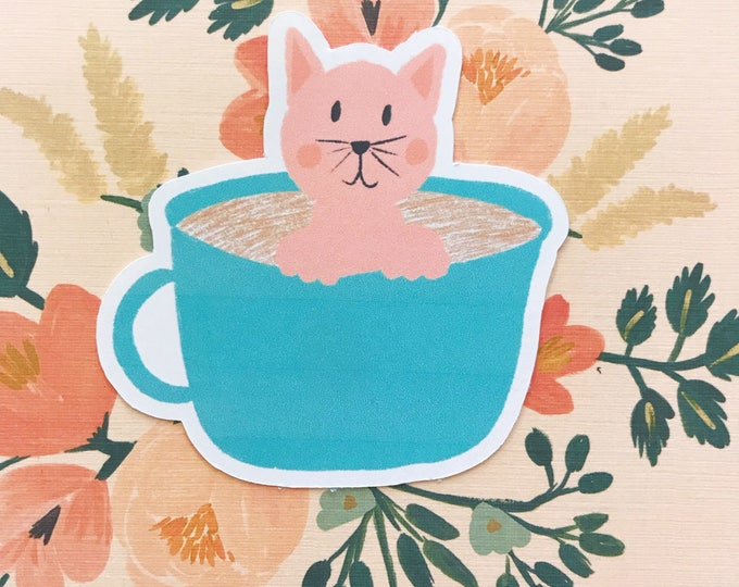 Kitty Brew Die Cut
