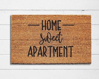 Home Sweet Apartment Doormat | Welcome Mat | Door Mat | Outdoor Rug |  Apartment Decor | Housewarming Gift